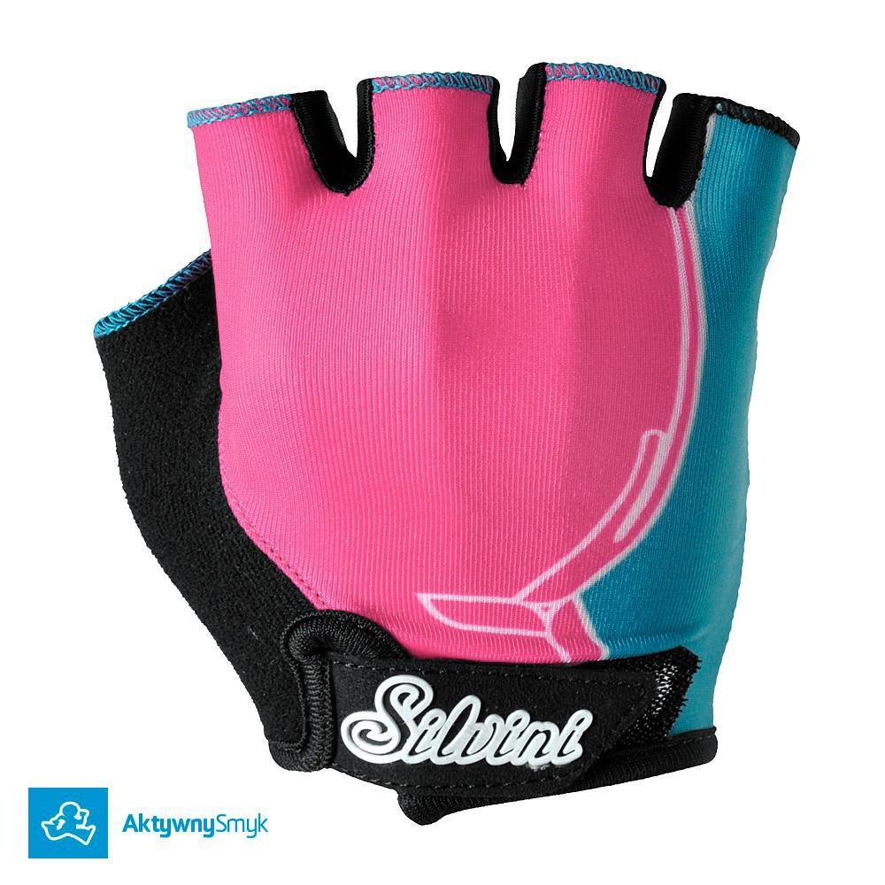 Różowe rękawiczki Silvini Punta punch-sky
