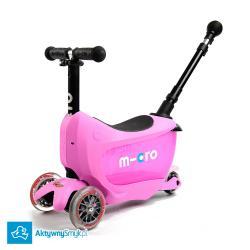 Micro Mini2Go Plus Deluxe Pink - jeździk i hulajnoga