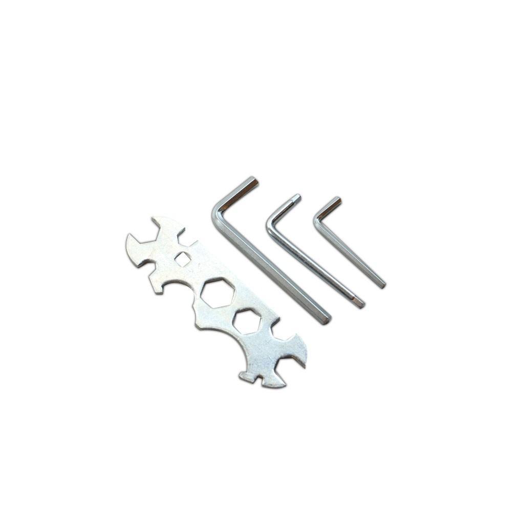 Zestaw kluczy: płaski oraz imbusowe 4, 5, 6