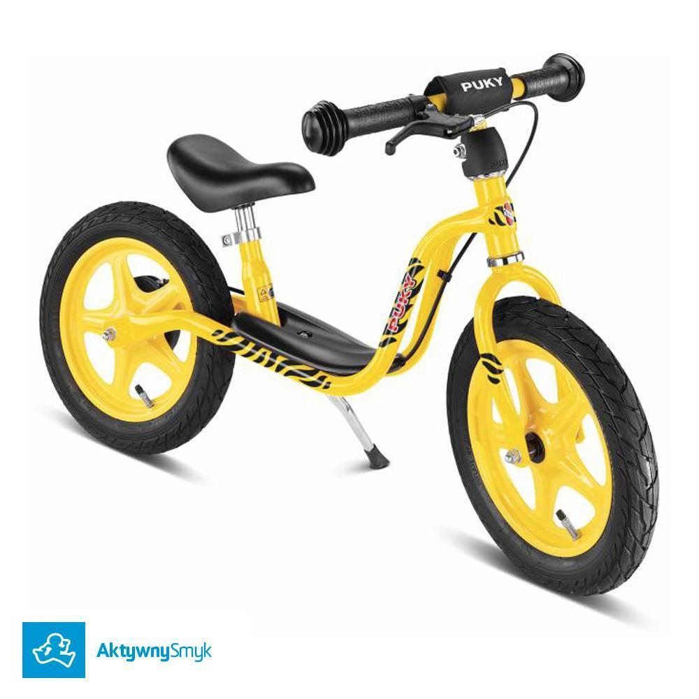 Żółty rowerek biegowy Puky LR 1L Br dla ponad 2 latka, wzrost ponad 90 cm