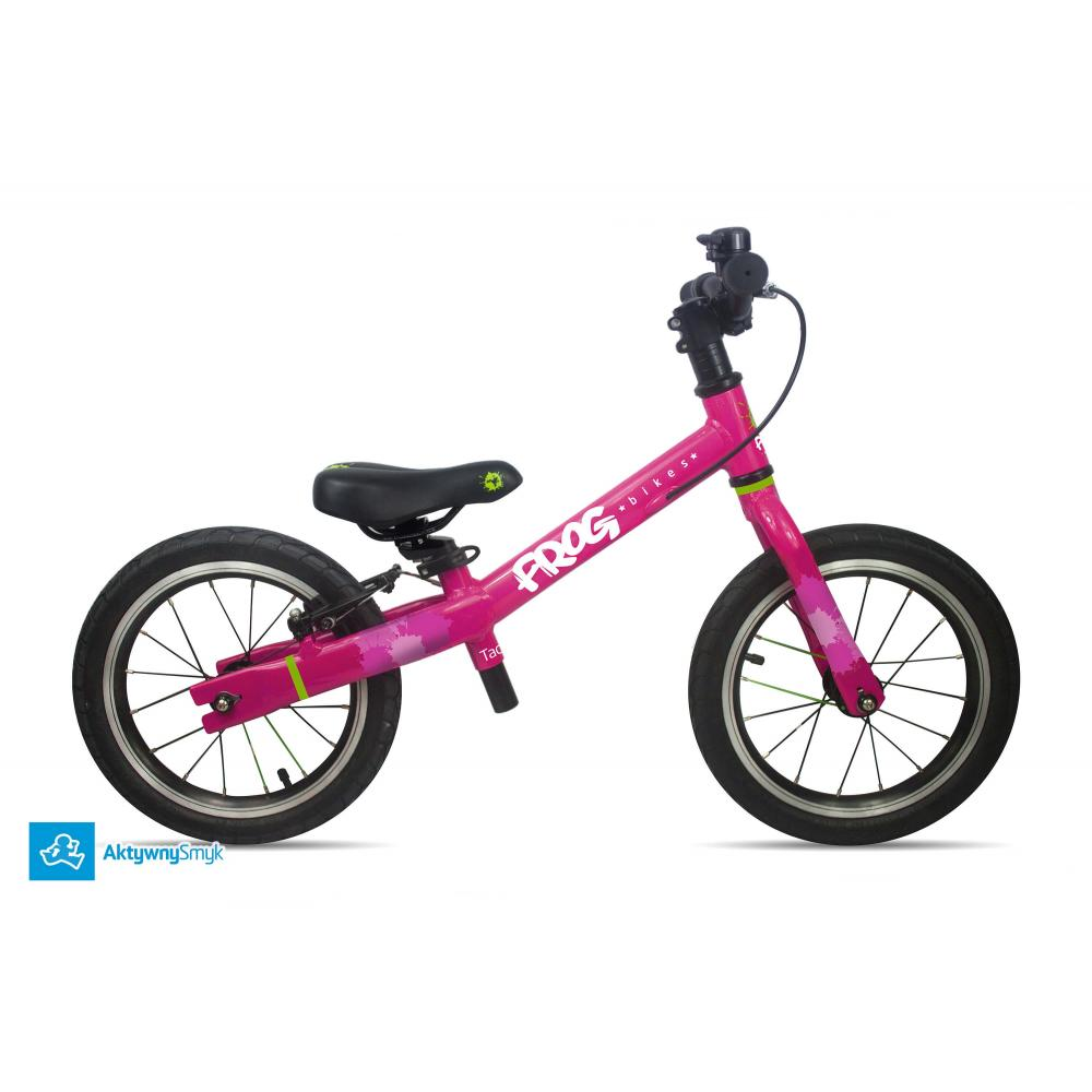 Duży rowerek biegowy Frog Tadpole Plus różowy