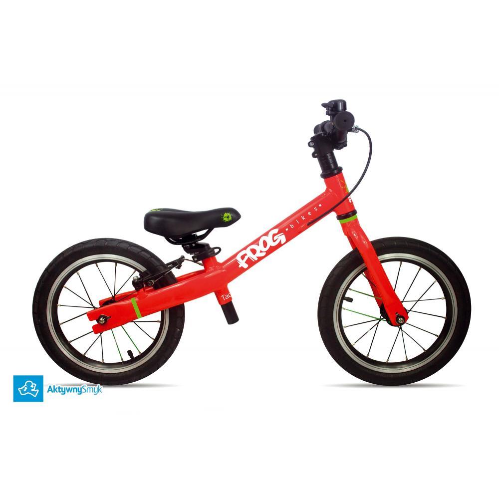 Duży rowerek biegowy dla 3-4 latka Frog Tadpole Plus czerwony