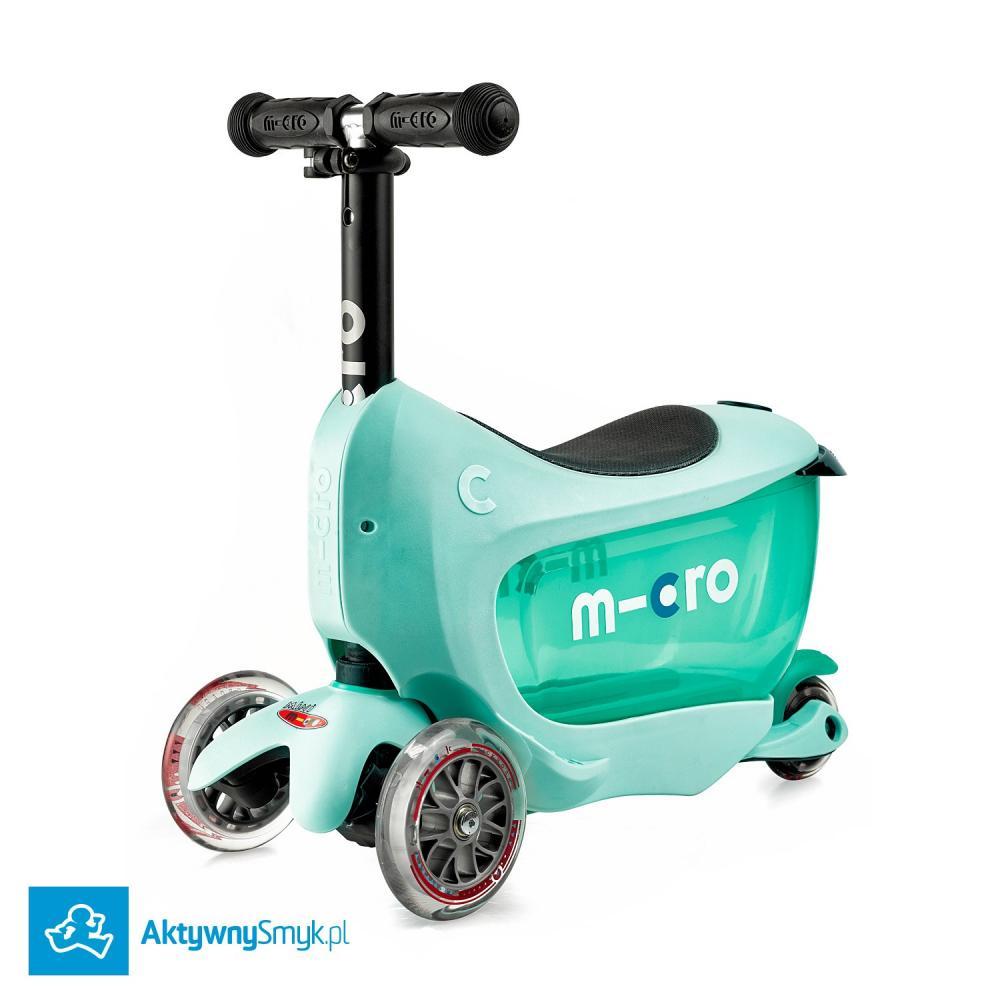 Micro Mini2Go Plus Deluxe Mint - jeździk i hulajnoga