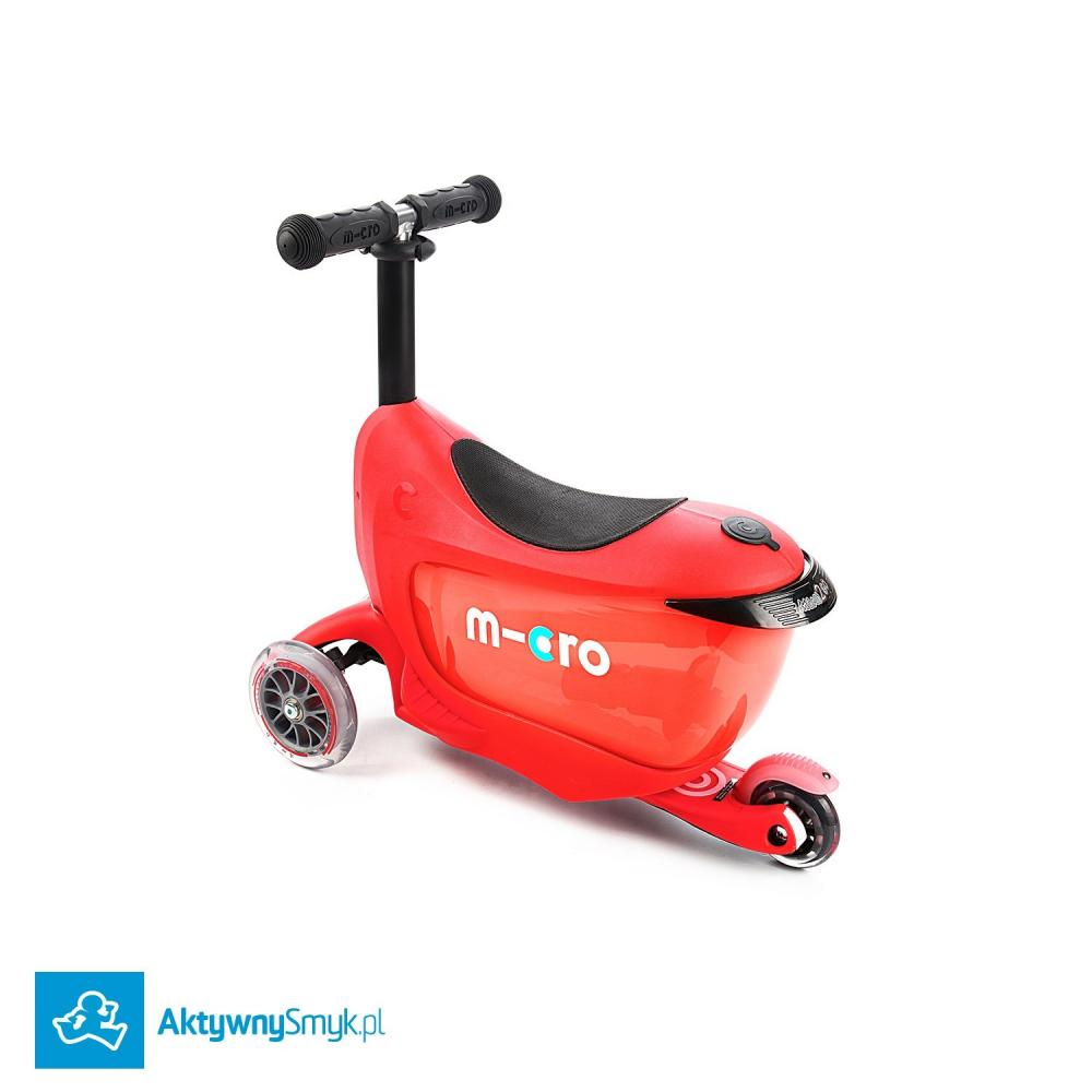 Micro Mini2Go Plus Deluxe Red - jeździk i hulajnoga