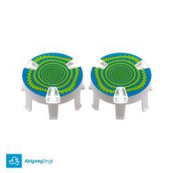 Dekielki Micro Wheel Whizzer LED Blue wyposażone w 3 lampki LED świecą podczas jazdy na hulajnodze Mini Micro lub Maxi Micro