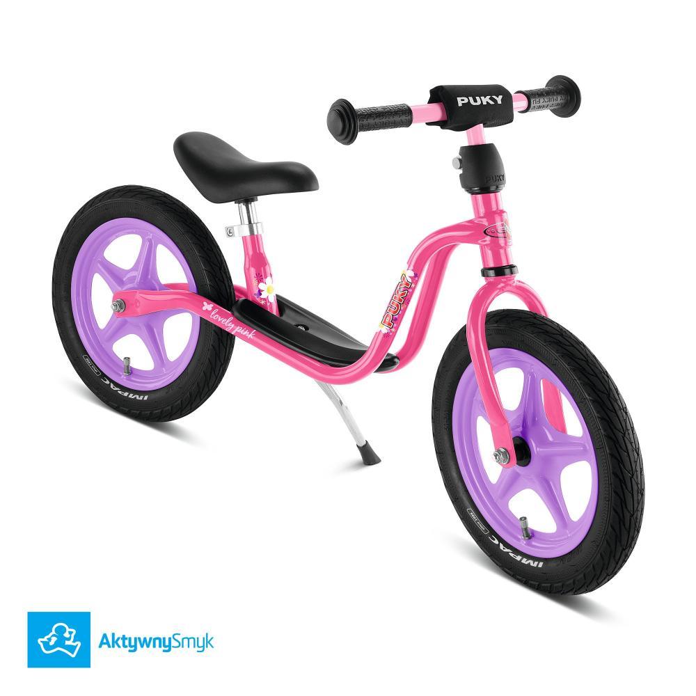 Różowy rowerek biegowy Puky LR 1L dla ponad 2 latak (wzrost ponad 90 cm)