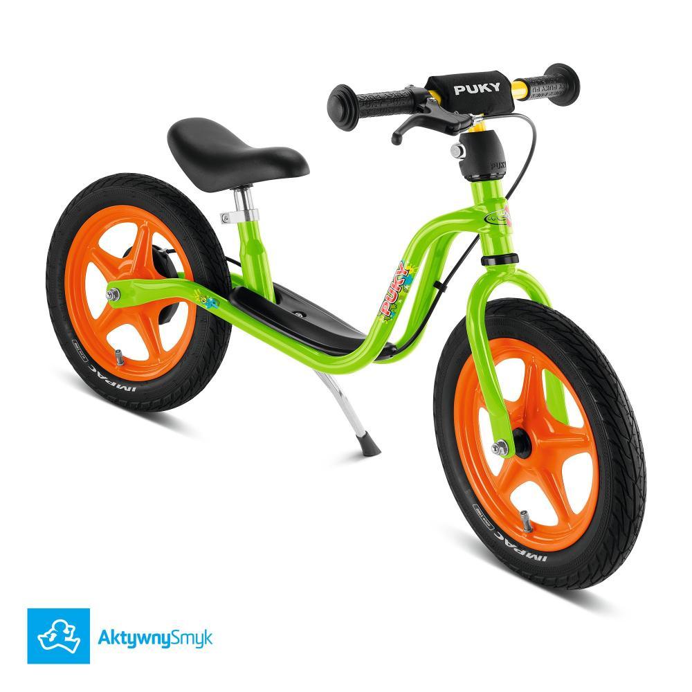 Zielony rowerek biegowy Puky LR 1L Br z hamulcem dla dwulatka (wzrost ponad 90 cm)