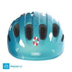 Kask Abus Smiley 2 Turquoise Sailor dla dziecka, dwa rozmiary, lekki - Warszawa Sklep AktywnySmyk