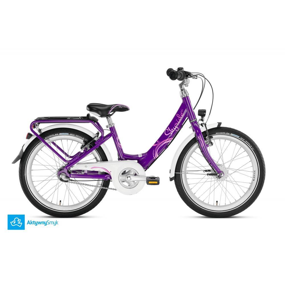 Fioletowy rower Puky Skyride 20-3 Alu Light dla dziecka wzrost 120 cm / wiek 6+