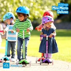 Dzieci na hulajnogach Mini Micro Deluxe