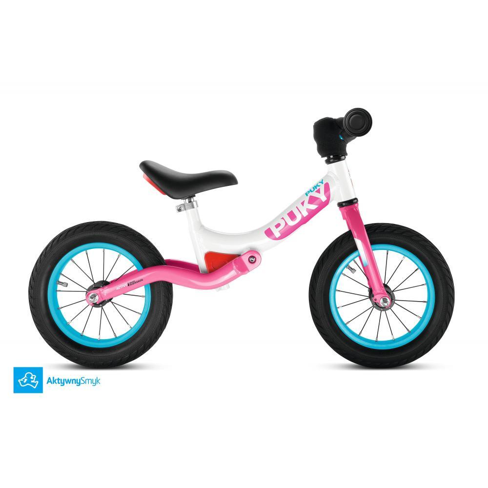 Różowy amortyzowany rowerek biegowy Puky LR Ride