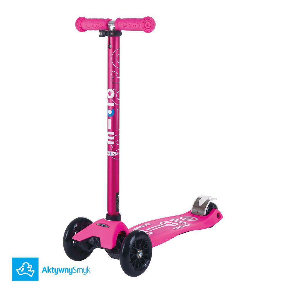 Różowa hulajnoga Maxi Micro Deluxe Shocking Pink