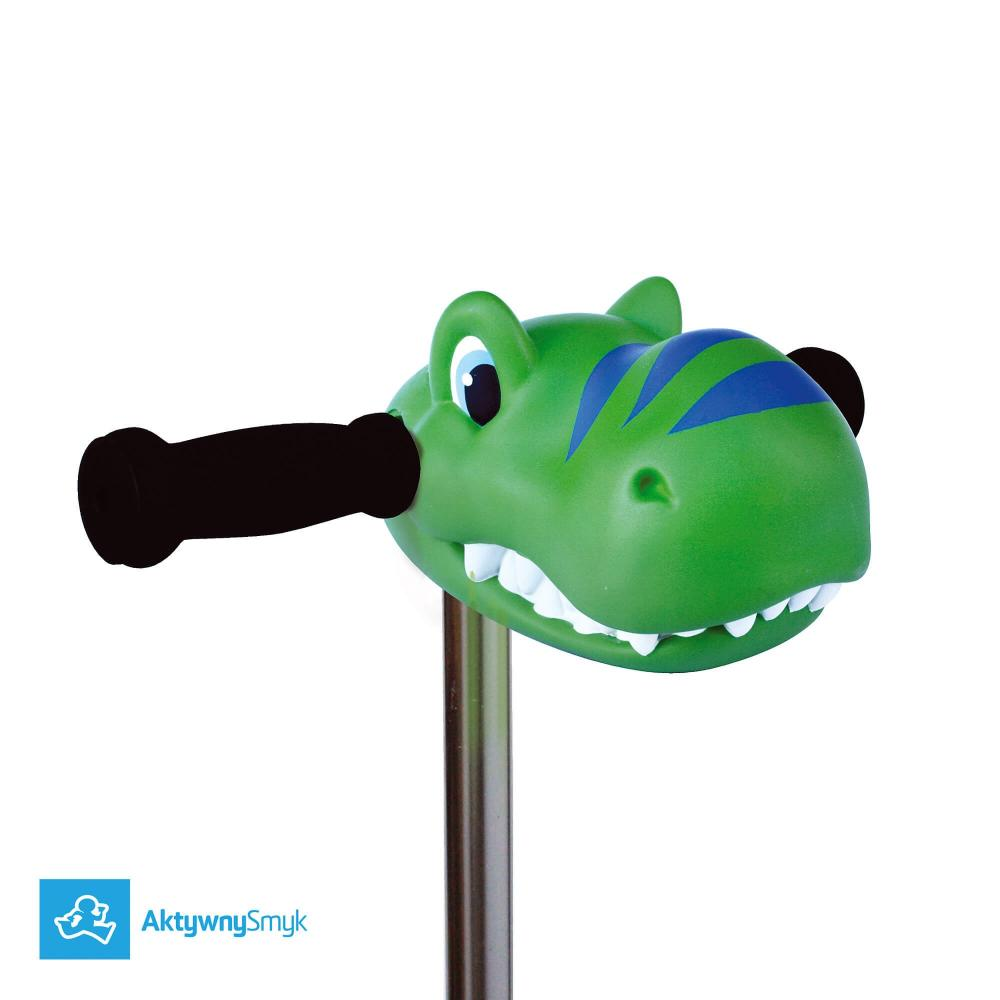 Scootaheadz Green Dino - ozdoba na hulajnogę Mini Micro lub Maxi Micro