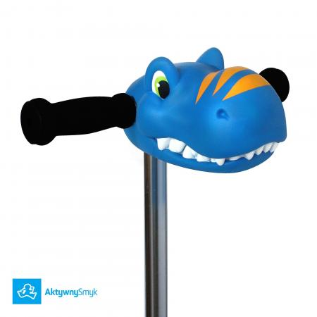 Scootaheadz Blue Dino - ozdoba na drążek hulajnogi Mini Micro albo Maxi Micro