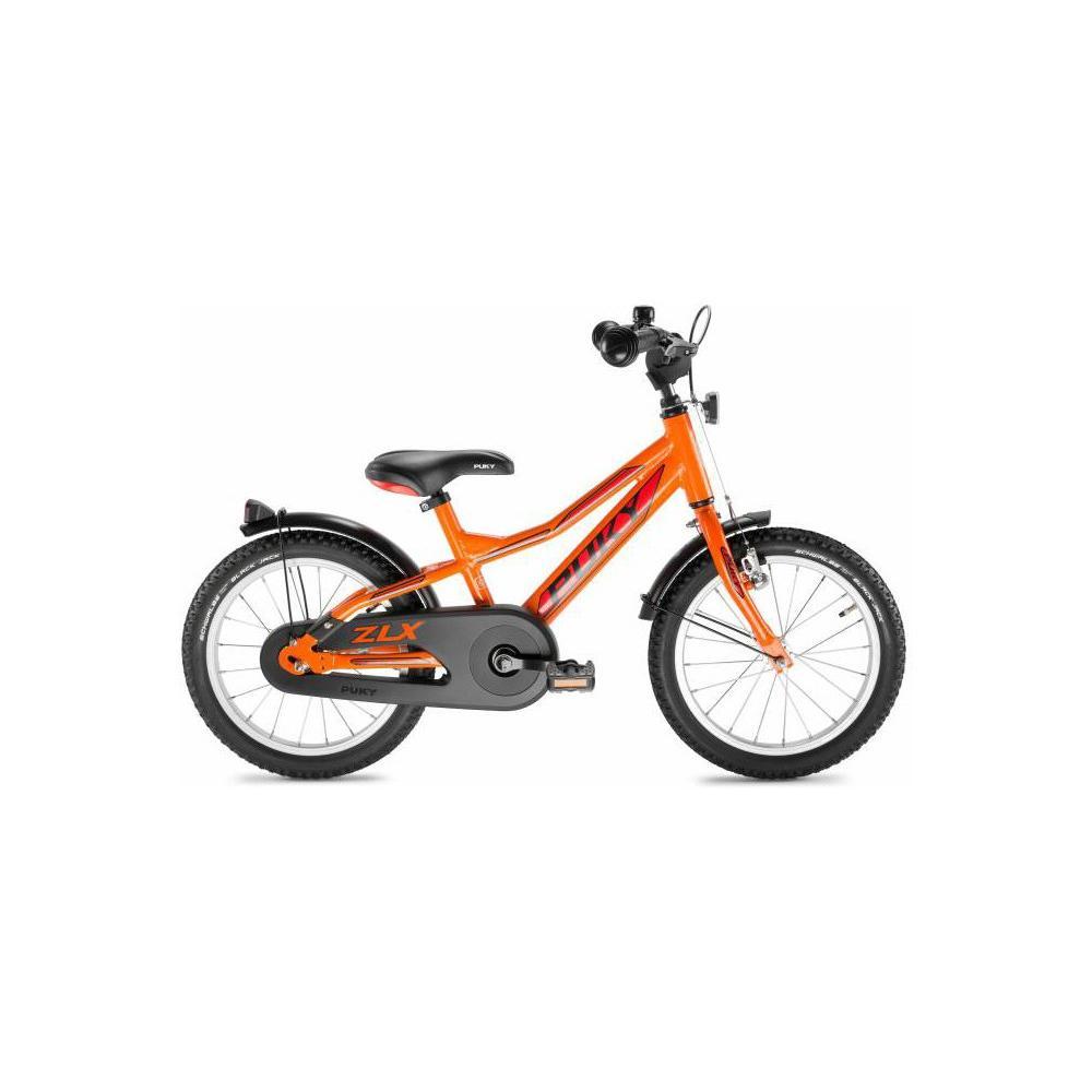 Pomarańczowy rower Puky ZLX 16 Alu dla 4 latka, koło 16 cali