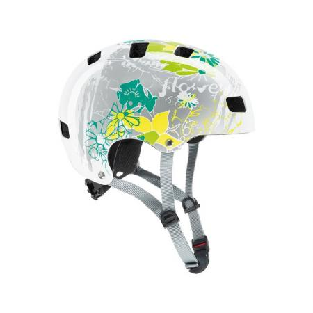 Kask Uvex Kid 3 white flower