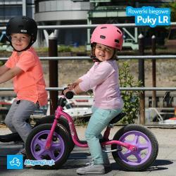 Fioletowy rowerek biegowy Puky LR 1L dla ponad 2 latki (wzrost ponad 90 cm)
