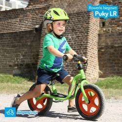 Zielony rowerek biegowy Puky LR 1L dla dwulatka (wzrost ponad 90 cm)
