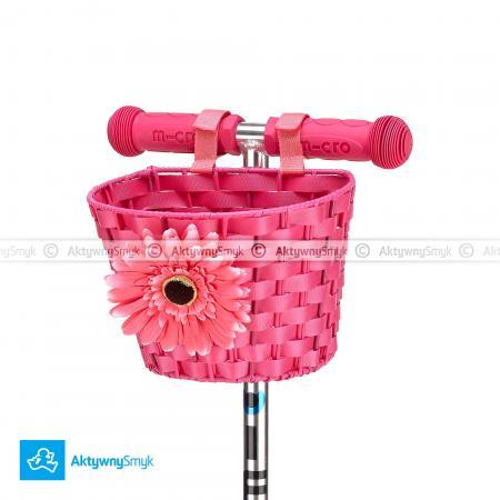 Koszyczek Micro różowy pasujący na hulajnogi Mini Micro i Maxi Micro