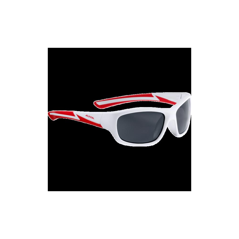 Okulary dziecięce Alpina Flexxy Youth white matt-red
