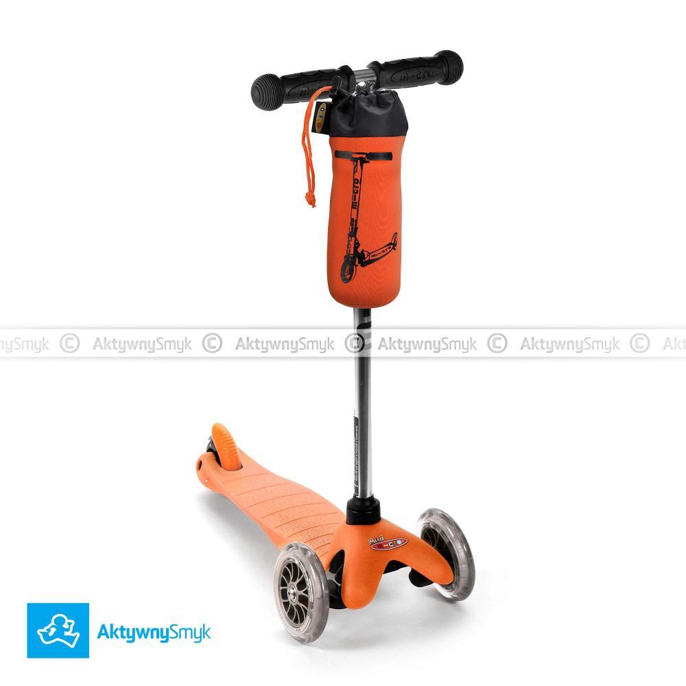 Pomarańczowa hulajnoga Mini Micro plus gratis pokrowiec Micro na bidon