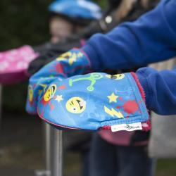 Ocieplacze na kierownicę hulajnogi Mini lub Maxi Micro lub rowerka biegowego - Scooterearz niebieskie