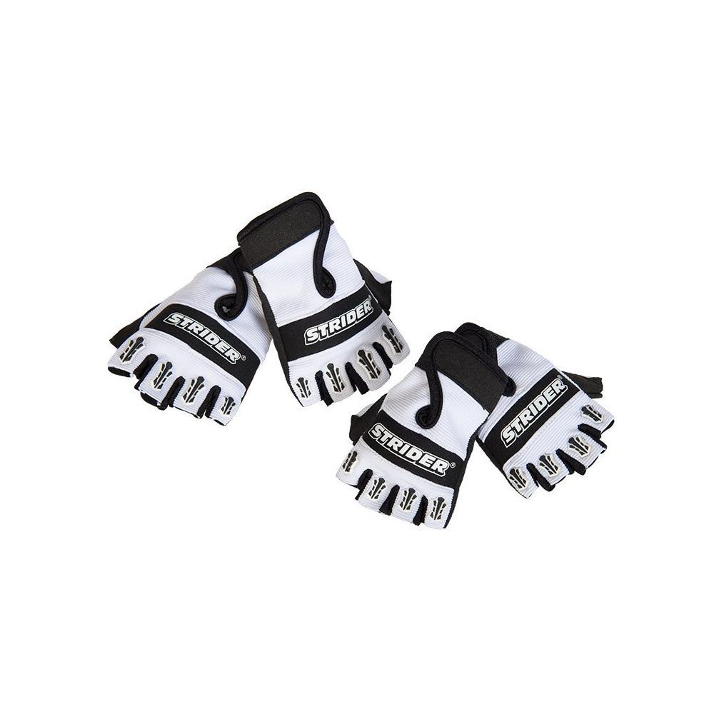 Rękawiczki rowerowe Strider biało-czarne
