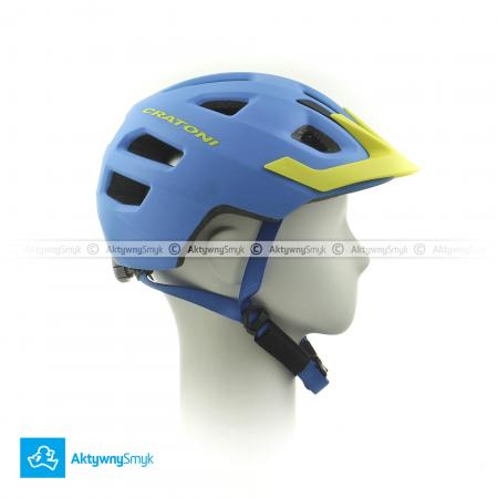 Kask Cratoni Maxster Pro blue-yellow matt