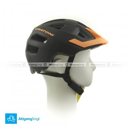Kask Cratoni Maxster Pro black-orange mat