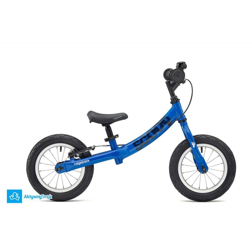 Niebieski rowerek biegowy Ridgeback Scoot