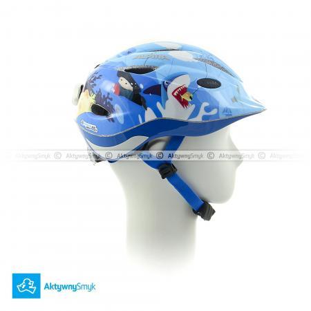 Niebieski kask Alpina Gamma 2.0 Flash Pirat | kask dla dziecka - sklep AktywnySmyk Warszawa
