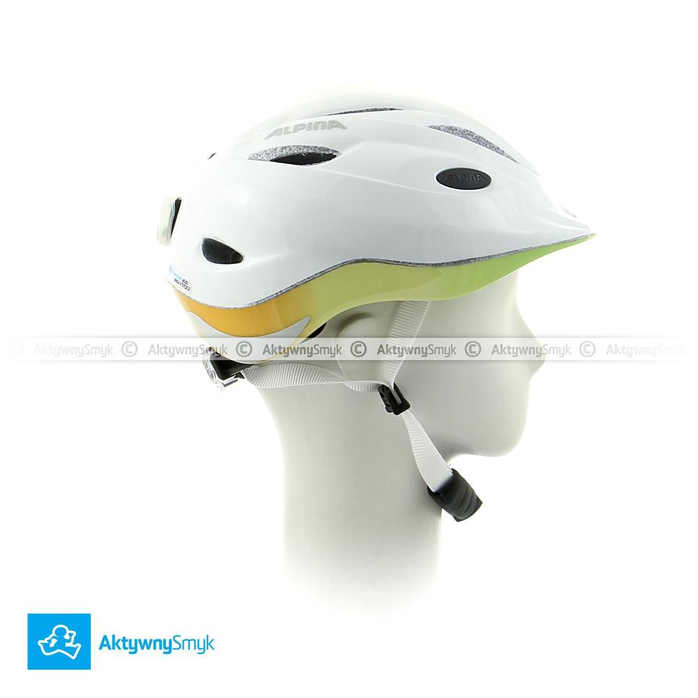 Kask Alpina Gamma 2.0 Flash White-Rainbow - kask dla dziecka - sklep AktywnySmyk Warszawa