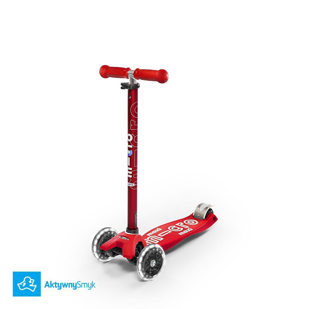 Hulajnoga Maxi Micro Deluxe Red LED | Sklep AktywnySmyk Warszawa