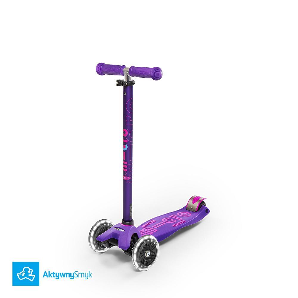 Hulajnoga Maxi Micro Deluxe Purple LED | Sklep AktywnySmyk Warszawa