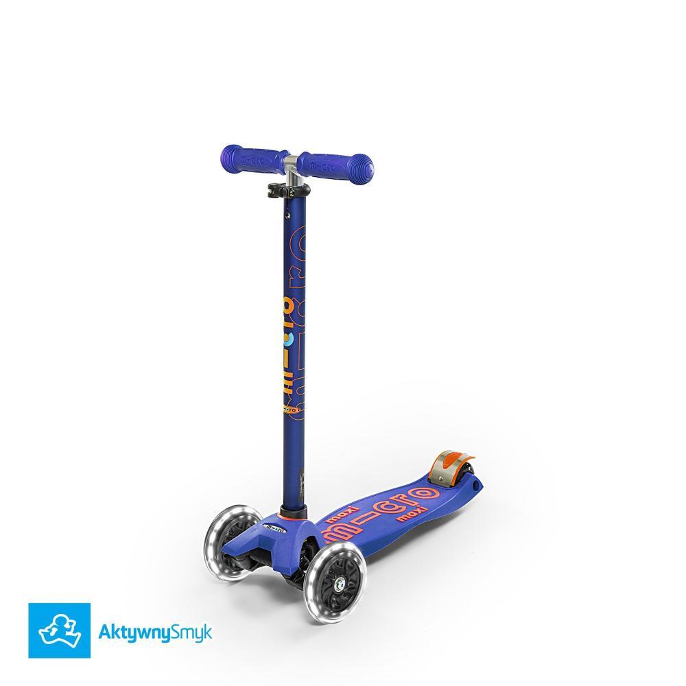 Hulajnoga Maxi Micro Deluxe Blue LED | Sklep AktywnySmyk Warszawa