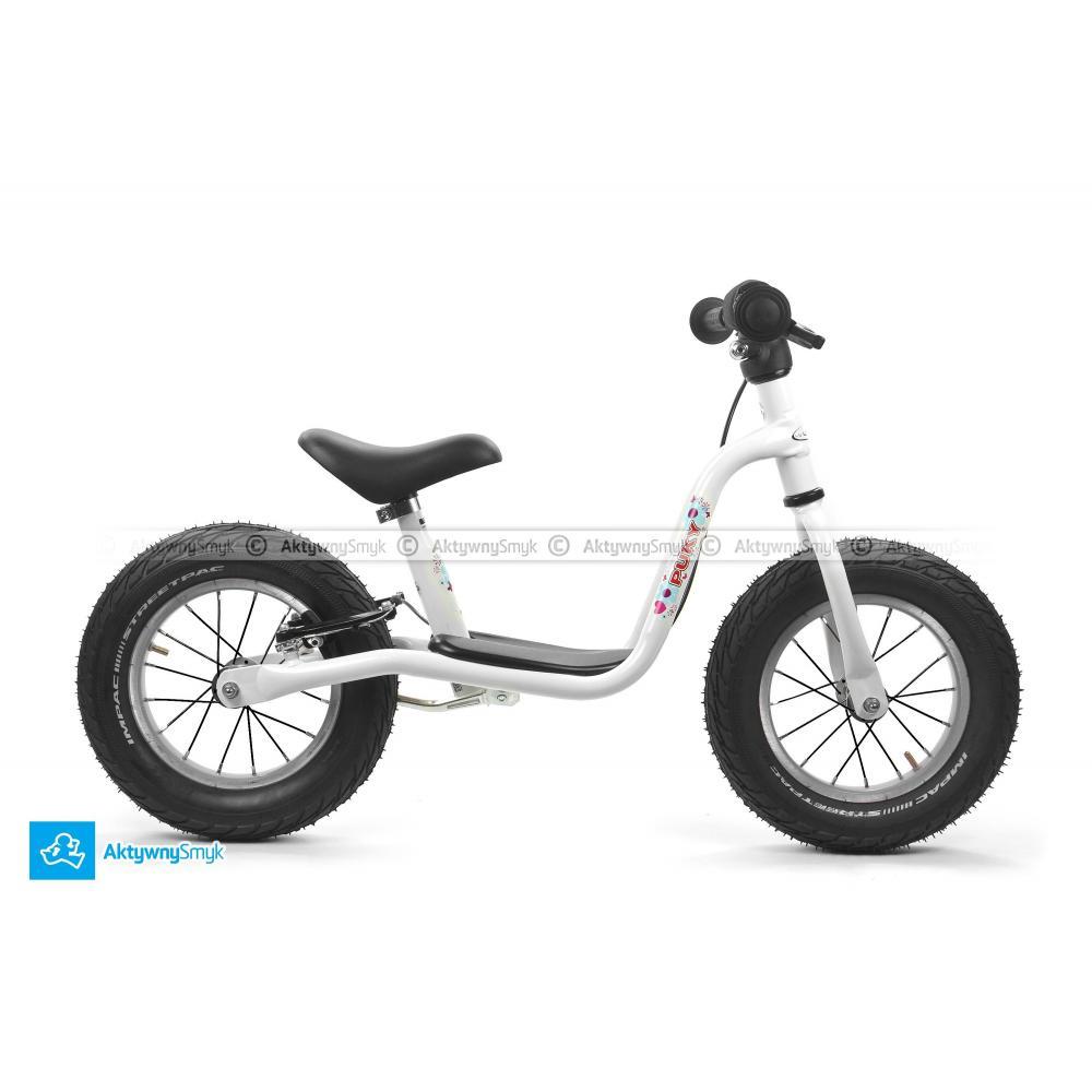 Biały rowerek biegowy Puky LR XL dla trzylatki (wzrost ok 100 cm)