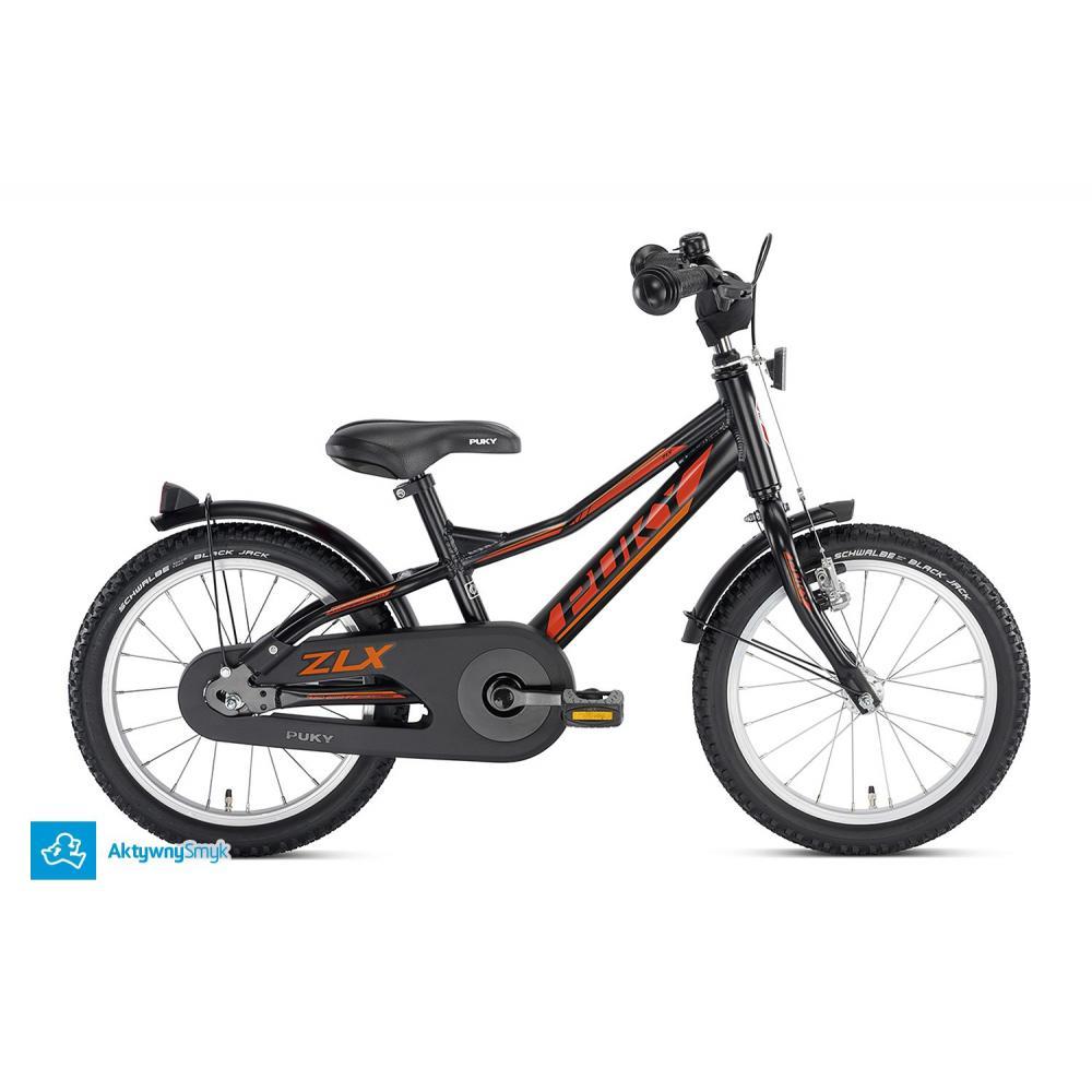 Rower Puky ZLX 16 Alu czarny dla 4 latka, koło 16 cali