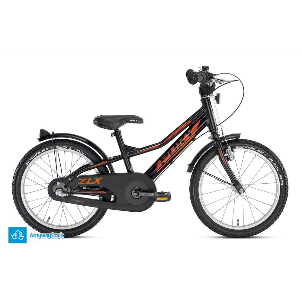 Rower Puky ZLX 18-3 Alu czarny dla 4,5 latka z przerzutką 3 biegową w piaście