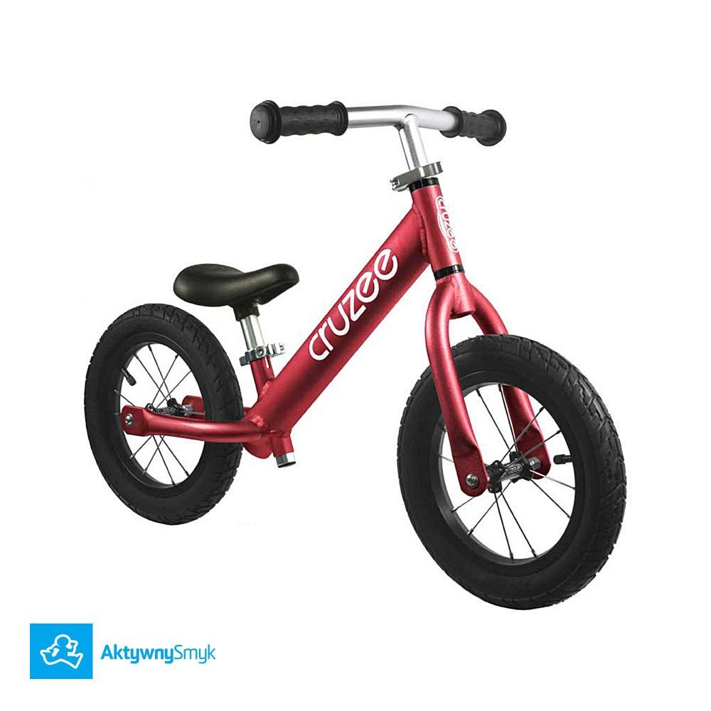Bardzo lekki czerwony rowerek biegowy Cruzee Air 12 na piankowych kołach | Sklep AktywnySmyk Warszawa