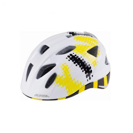 Kask Alpina XIMO Flash white-black-yellow