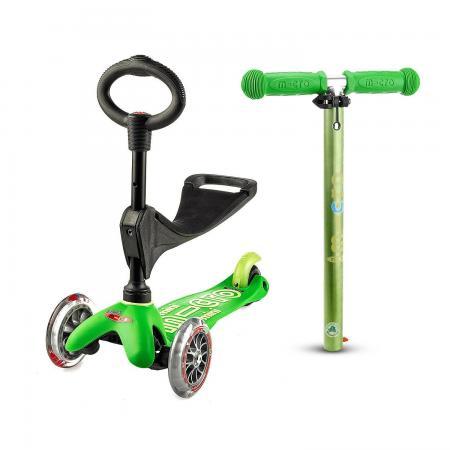 Mini Micro 3in1 Deluxe Green - jeździk i hulajnoga Mini Micro Deluxe