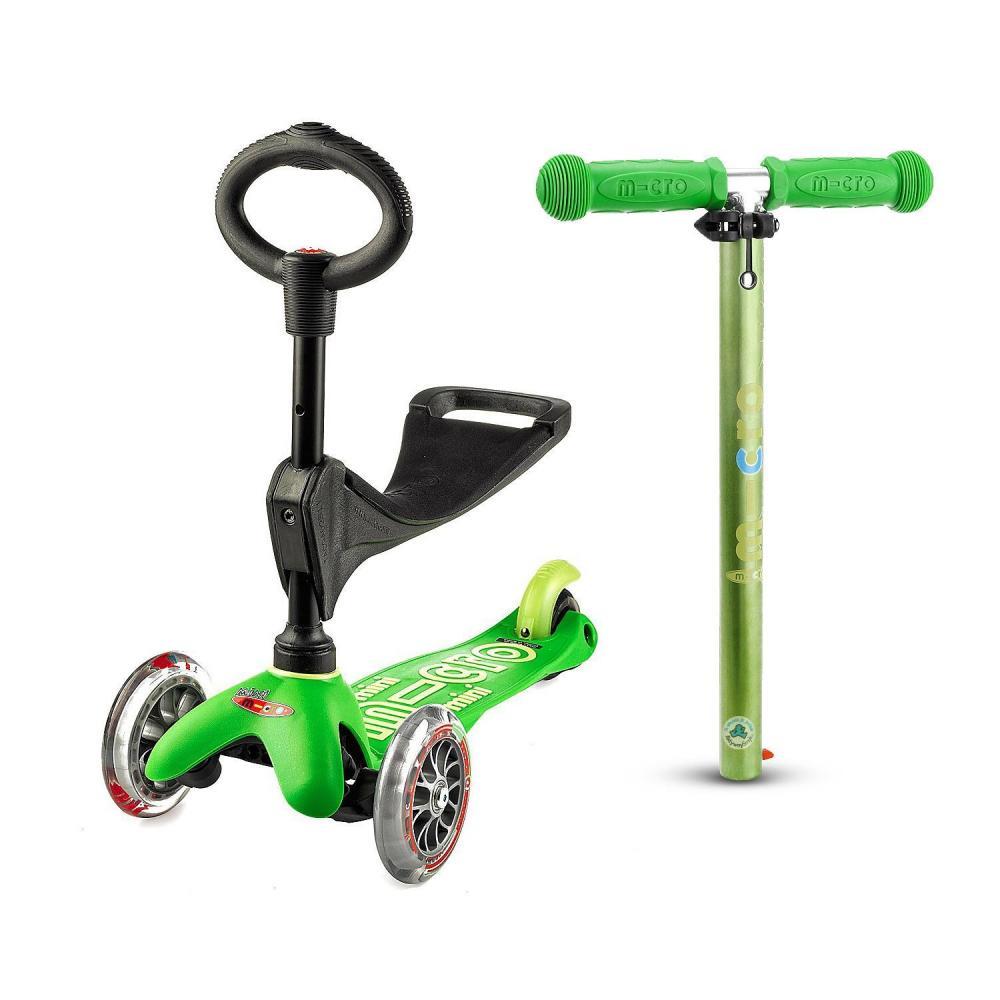 Zielona Mini Micro 3in1 Deluxe - jeździk i hulajnoga Mini Micro Deluxe Sklep AktywnySmyk Warszawa