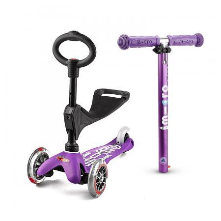 Mini Micro 3in1 Deluxe Purple - jeździk i hulajnoga Mini Micro Deluxe