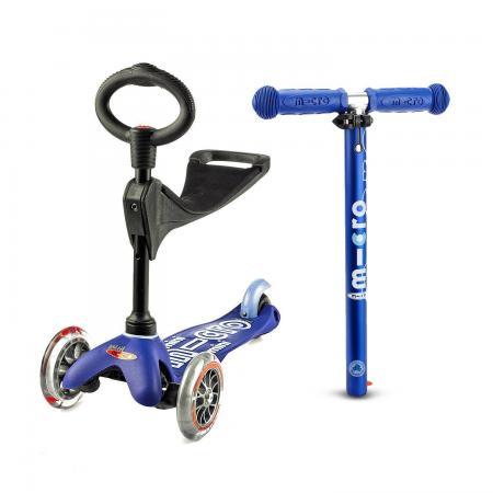 Mini Micro 3in1 Deluxe Blue - jeździk i hulajnoga Mini Micro Deluxe