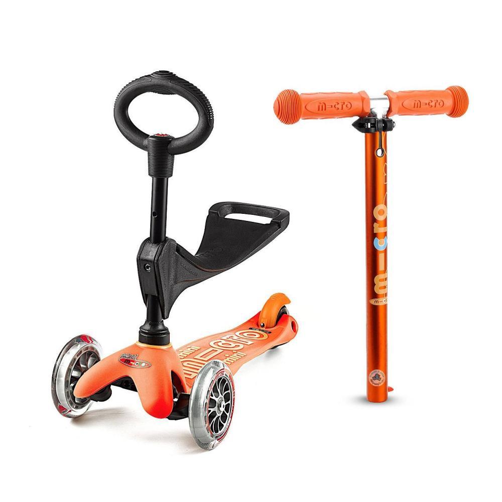 Pomarańczowa Mini Micro 3in1 Deluxe - jeździk i hulajnoga Mini Micro Deluxe Sklep AktywnySmyk Warszawa