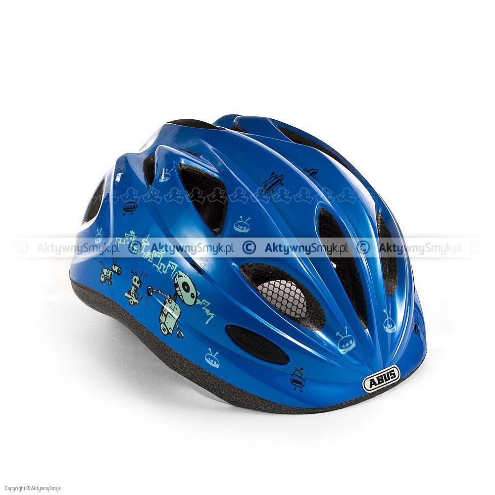 Kask rowerowy dla dziecka Abus Chilly niebieski w roboty
