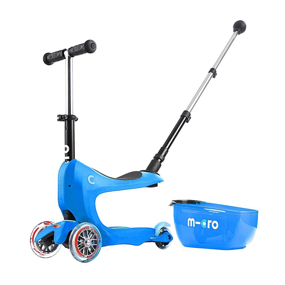 Micro Mini2Go Plus Deluxe Niebieski - jeździk i hulajnoga