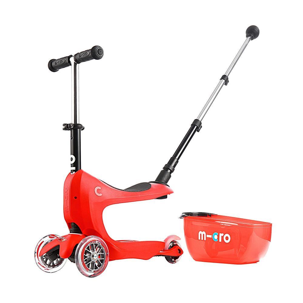Micro Mini2Go Plus Deluxe Red - jeździk i hulajnoga - Sklep AktywnySmyk Warszawa