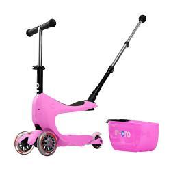 Micro Mini2Go Plus Deluxe Pink - jeździk i hulajnoga - Sklep AktywnySmyk Warszawa