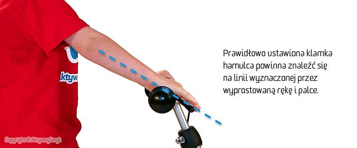 Prawidłowe ustawienie klamki na kierownicy